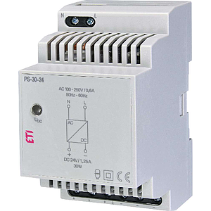 Voeding 24VDC/1.25A - DIN rail 3 modules